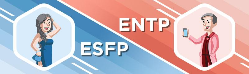 ESFP dating entp